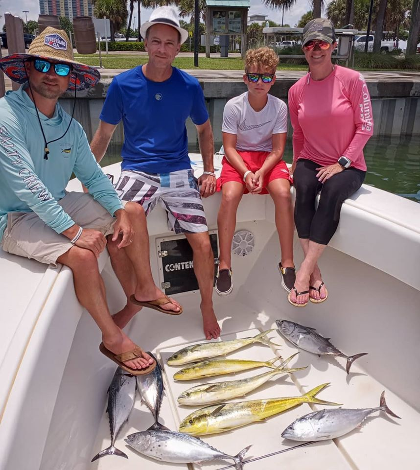 Another Happy Client Catching Fish On The Reel E Sea Charter Boat In Jupiter, Fl