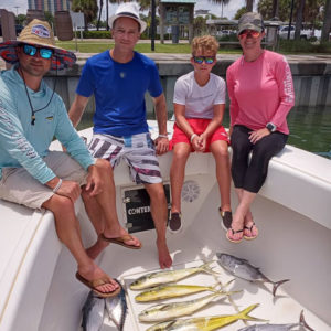 Group Photo After A Charter Fishing Trip Onboard The Reel E Sea Fishing Charter in Jupiter, Fl